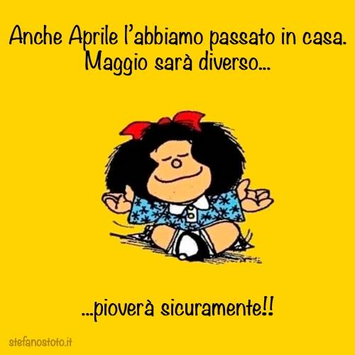 Mafalda a maggio 2020