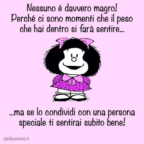 Mafalda e il peso dentro